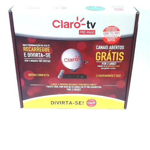 Kit Claro TV Pré-Pago Livre por Dois Anos