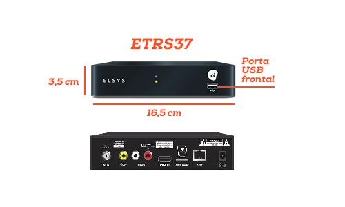 """Kit Oi TV com antena """"Mini parabólica"""" de chapa 60 cm"""