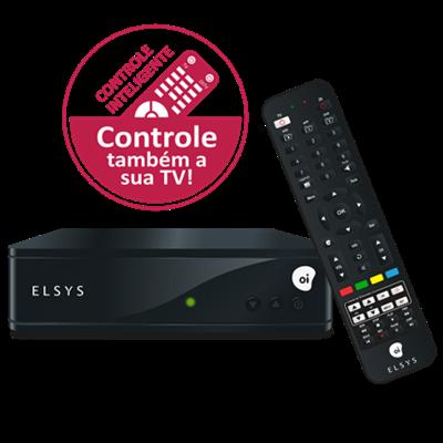 Kit OI TV Livre HD 60 2 Pontos Sem Mensalidades - Etrs44