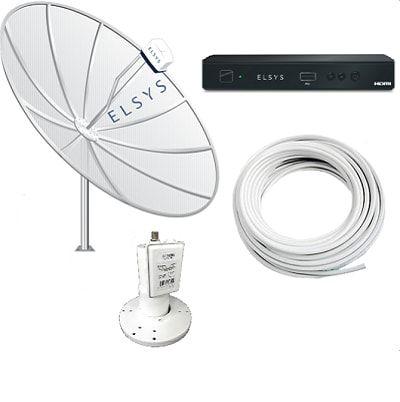 Kit Receptor Duomax Hd + Antena Parabólica 1,70m Elsys com Monoponto