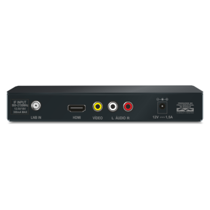 Kit Receptor Duomax Hd + Antena Parabólica 1,90m Elsys com Multiponto