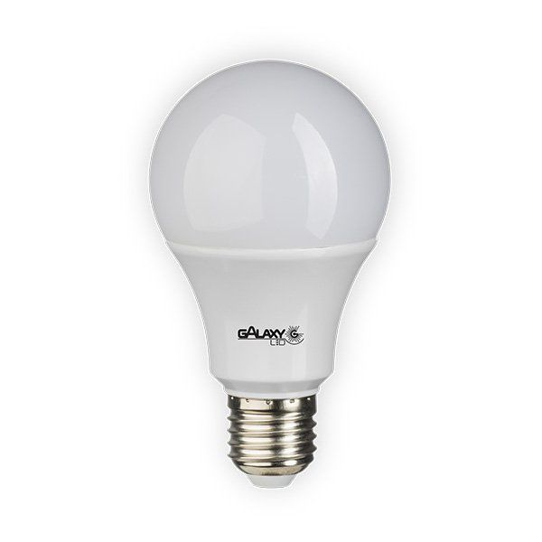 Lampada Led 12w Bulbo E27 Bivolt Branco Galaxy Led Quente 3000k