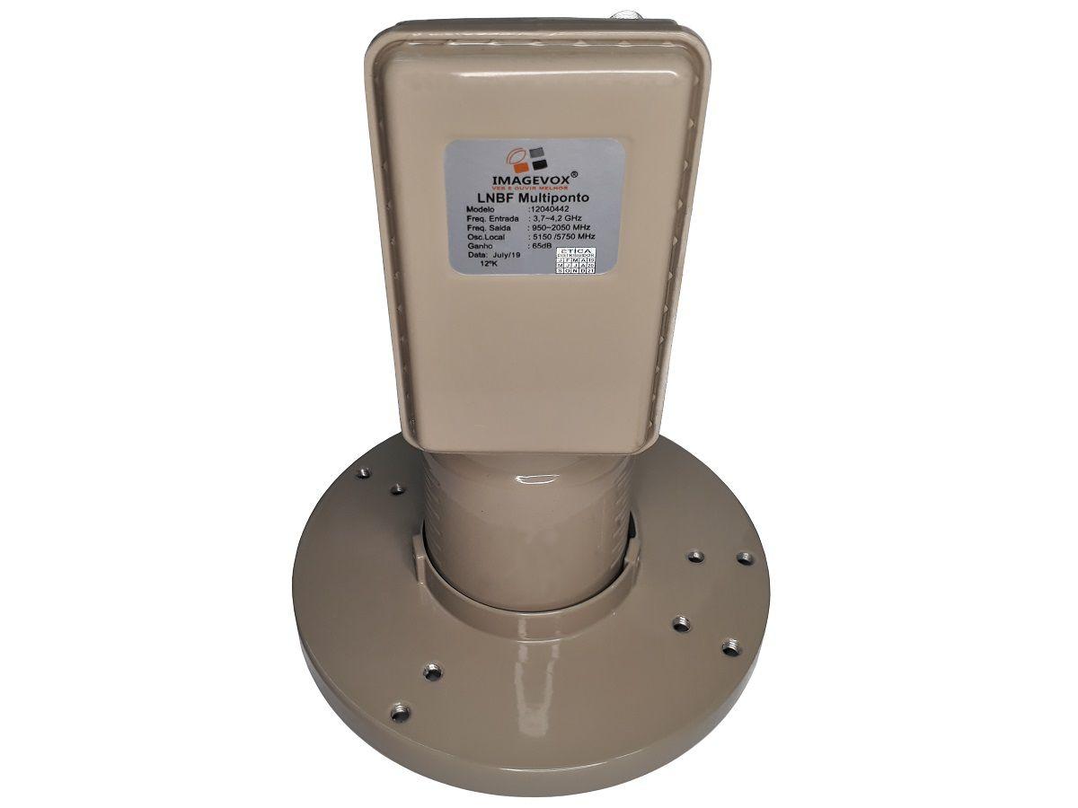 LNBF Multiponto Amplificador banda C de Alta estabilidade 65dB IMAGEVOX
