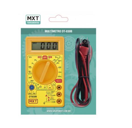 Multímetro Digital DT830-B Amarelo