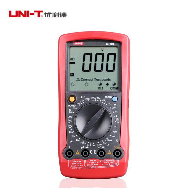 Multímetro Digital Portátil UT58B Mxt
