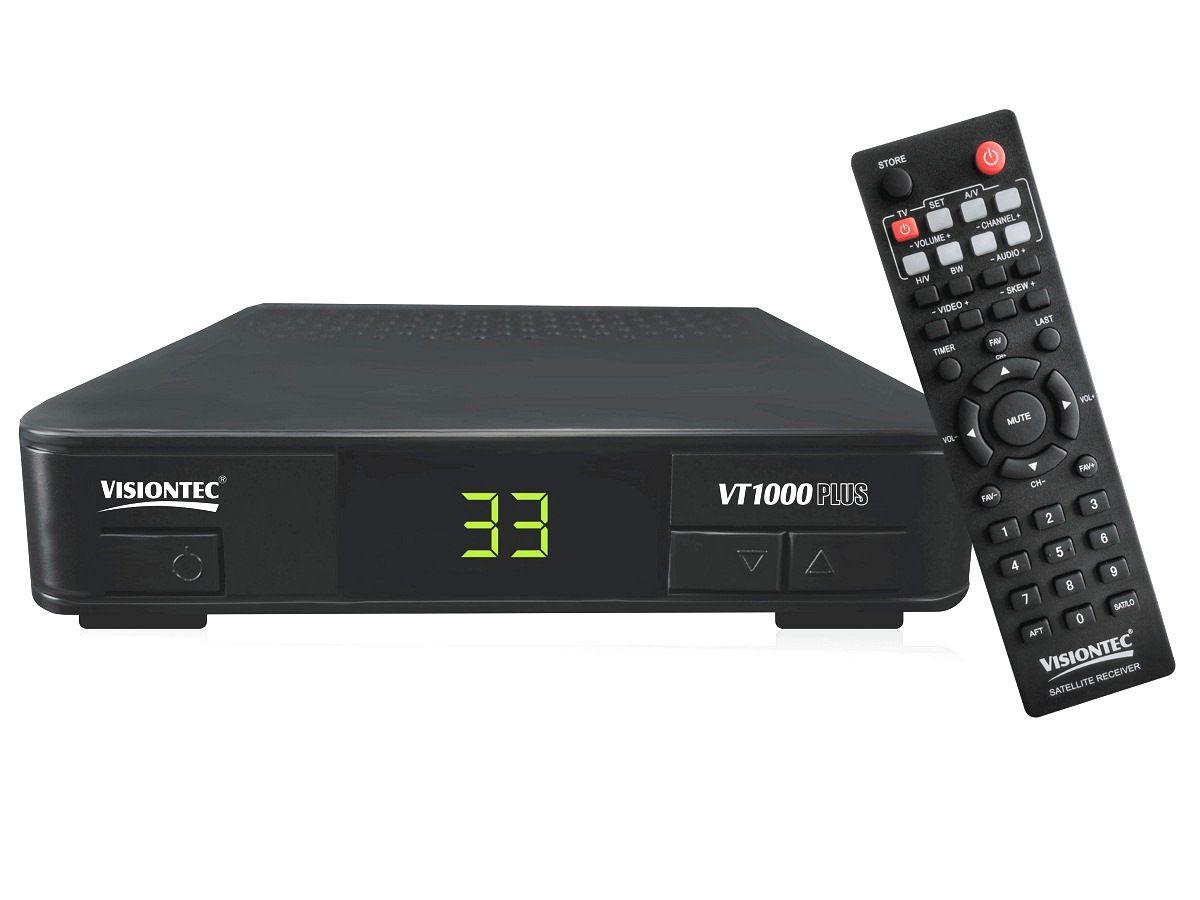 Receptor de Parabólica VT1000 Plus Analógico entrada Vhf/uhf Visiontec