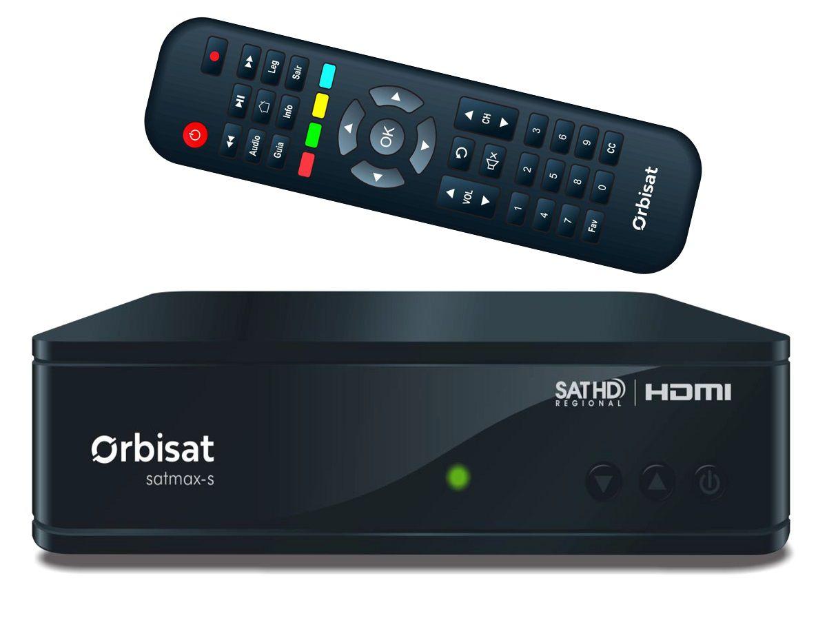 Receptor de TV Digital HD Via Sat Banda C Orbisat Satmax S