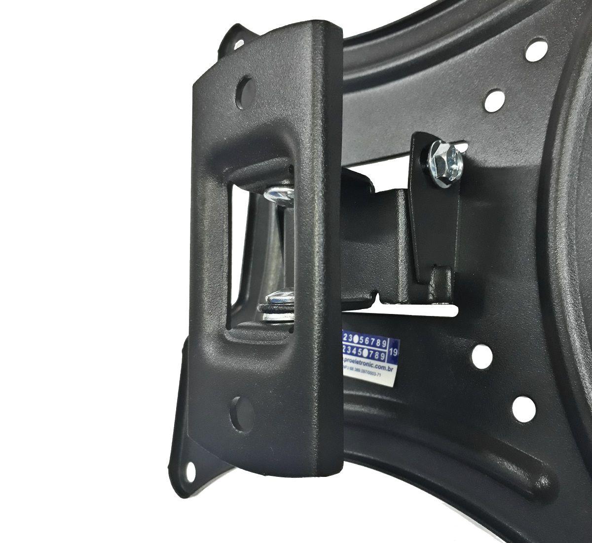 Suporte Articulado Para TV LED, LCD e Plasma de 13 a 55 Polegadas 2 Níveis de Movimento Vesa Max 400x400 PQST-AT55/01