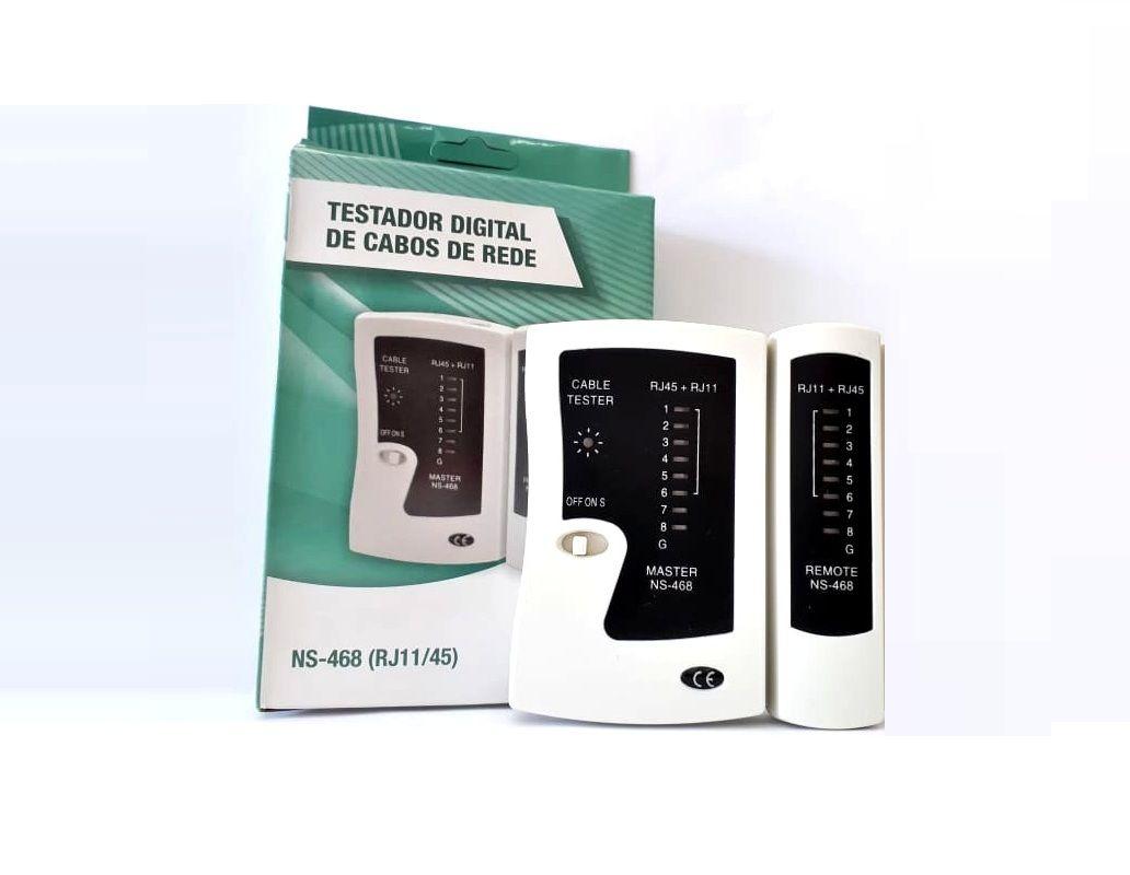 Testador Digital de Cabo De Rede Lan Profissional Rj45 Rj11 Telefone