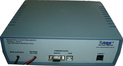 Central Receptora Monitoramento de Alarmes 1 Linha MAX 1  - ABSSISTEMAS