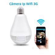 Câmera Ip Lâmpada 360o Wifi 3g Panorâmica Hd 1080p