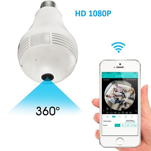 Câmera Ip Lâmpada 360o Wifi 3g Panorâmica Hd 1080p  - ABSSISTEMAS