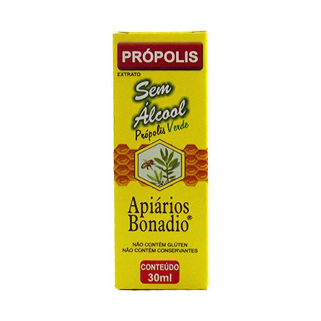Extrato De Propolis Verde Sem Alcool Apiarios Bonadio - 30ml