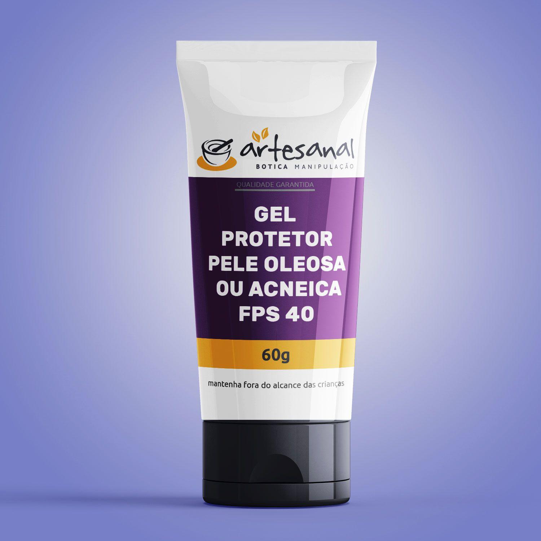 Gel Protetor - Pele Oleosa Ou Acneica Fps 40 - 60g