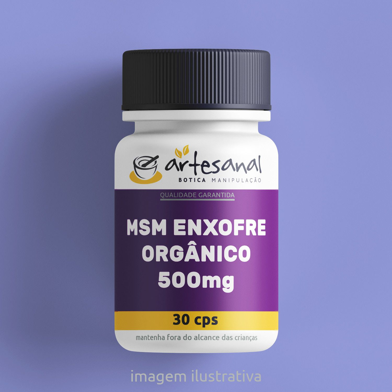 Msm Enxofre Orgânico 500mg - 30 Cps