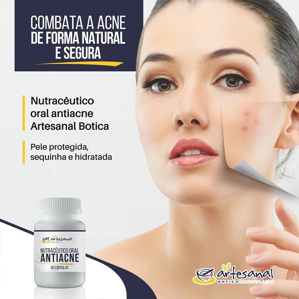 Nutracêutico Oral Antiacne - 60 Cps
