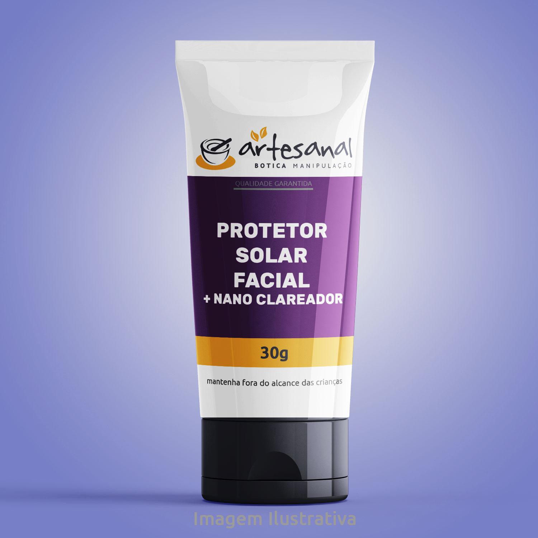 Protetor Solar Facial + Nano Clareador - 30g