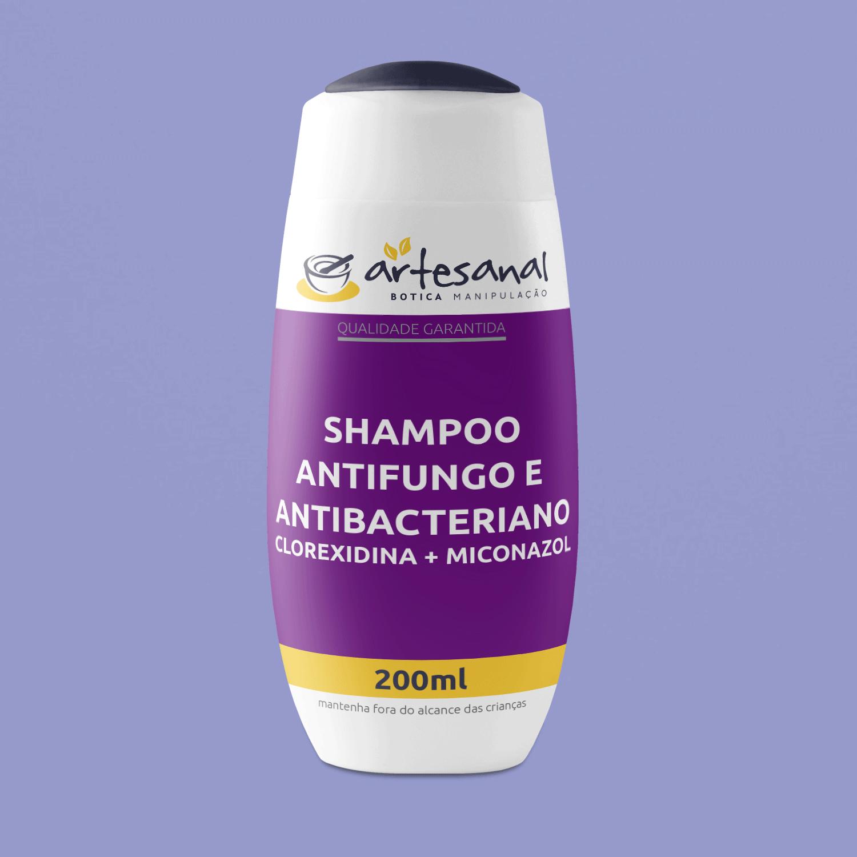 Shampoo Antifungo E Antibacteriano - Clorexidina + Miconazol - 200ml