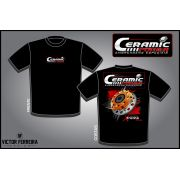 Camiseta Ceramic Power Multidisco Xtreme - Preta P