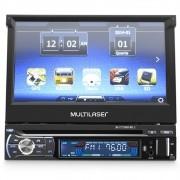 DVD Player Automotivo Tela Retrátil GPS TV Bluetooth MP3 Mirror Link Multilaser Extreme+ GP044