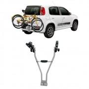 Suporte de Bicicleta Transbike Engate Prata Easy2 Eqmax 2 Bikes