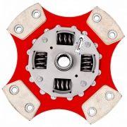 Disco Embreagem Cerâmica 4 pastilhas com molas Fiesta Ka 1.0 1.3 1.4 Endura Zetec Rocam Zetec SE 96 a 2008 Ceramic Power
