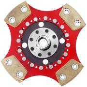 Disco Embreagem Cerâmica 4 pastilhas sem molas Fiesta Ka 1.0 1.3 1.4 Endura Zetec Rocam Zetec SE 96 a 2008 Ceramic Power
