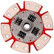 Disco Embreagem Cerâmica 6 pastilhas com molas Chevette 1.0 1.4 1.6 - 73 a 95, Chevy 500 Marajó 1.4 1.6 - 80 a 95 Ceramic Power