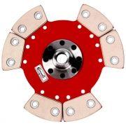 Disco Embreagem Cerâmica 6 pastilhas sem molas Fiesta Ka 1.0 1.3 1.4 Endura Zetec Rocam Zetec SE 96 a 2008 Ceramic Power