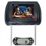 Encosto de Cabeça Dvd Com Tela 7 Polegadas Preto Com DVD USB SD e Controle Remoto (EC03)