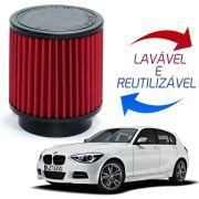 Filtro de Ar Esportivo BMW 118i 2009 a 2012, 120i 2005 a 2012, 318i 2011 2012, 320i 2005 a 2012, X1 18i 2010 a 2014 Inbox Race Chrome