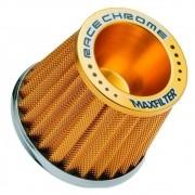 Filtro de Ar Esportivo Mono Fluxo Max Filter Race Chrome Dourado