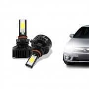 Kit Lâmpada Super LED HB4 (9006) 6000k 12V e 24V 24W 3700LM Efeito Xenon - Tech One