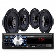 "Kit Som Automotivo Multilaser Mp3 One USB + 4 Alto Falantes 6"" - AU953 (KSA01)"
