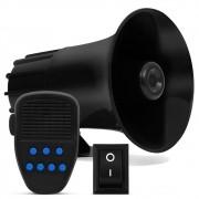 Sirene Automotiva Tech One 7 Tons com Microfone e Botão Interruptor (SIRENE01)
