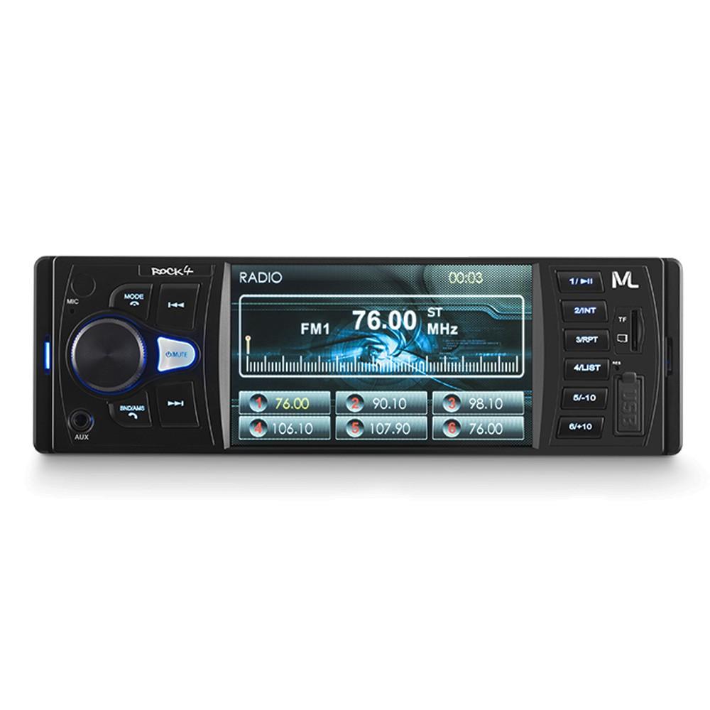 MP5 Player Multilaser Rock 4 Tela 4 Polegadas Bluetooth USB SD e Auxiliar P3325