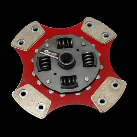Disco de Cerâmica 4 ou 6 pastilhas com molas A3 1.6 16v 74cv após 02 200mm 28 estrias Ceramic Power