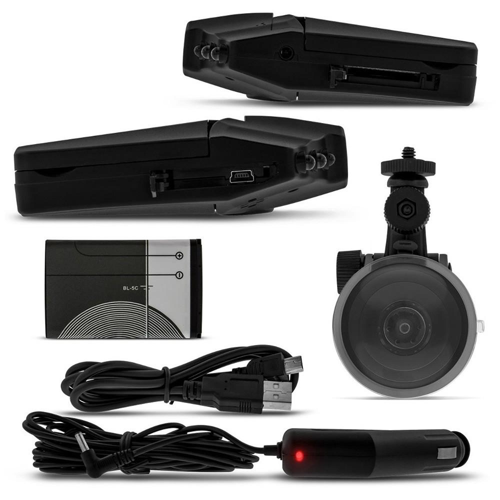 Câmera Filmadora Veicular DVR com Visão Noturna (DVR02)