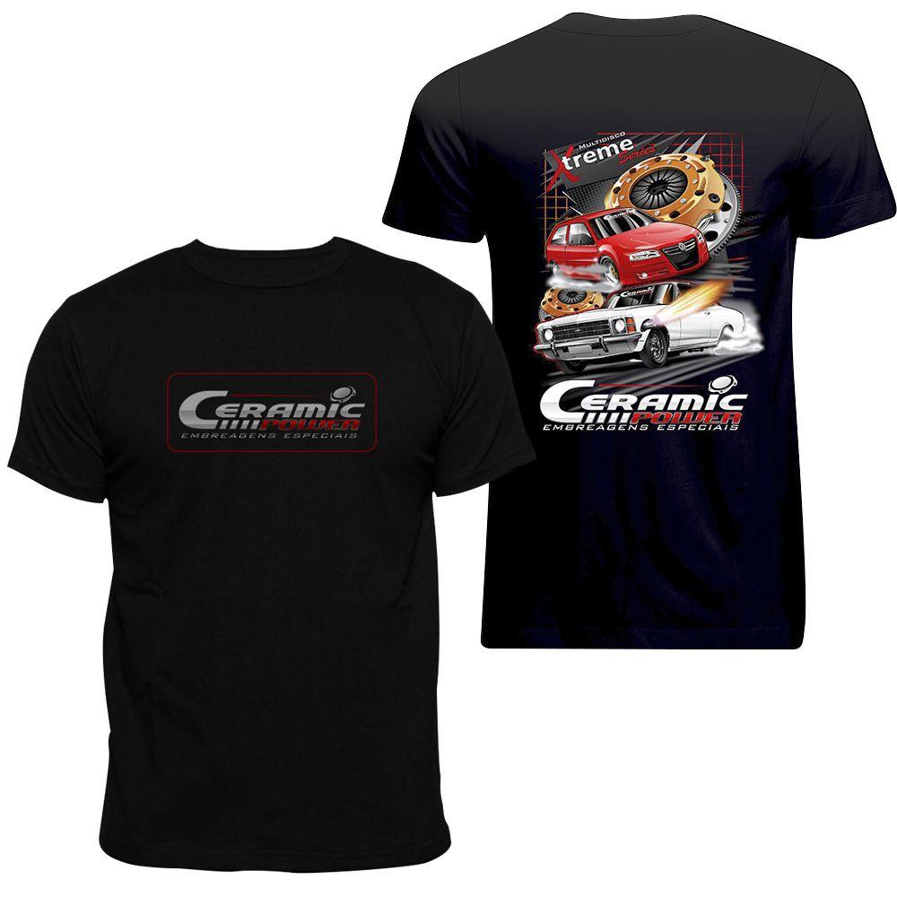 Camiseta Ceramic Power Gol / Opala - Preta XG