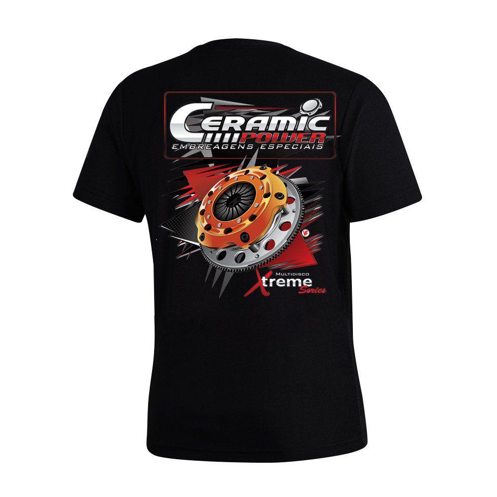 Camiseta Ceramic Power Multidisco Xtreme - Preta P