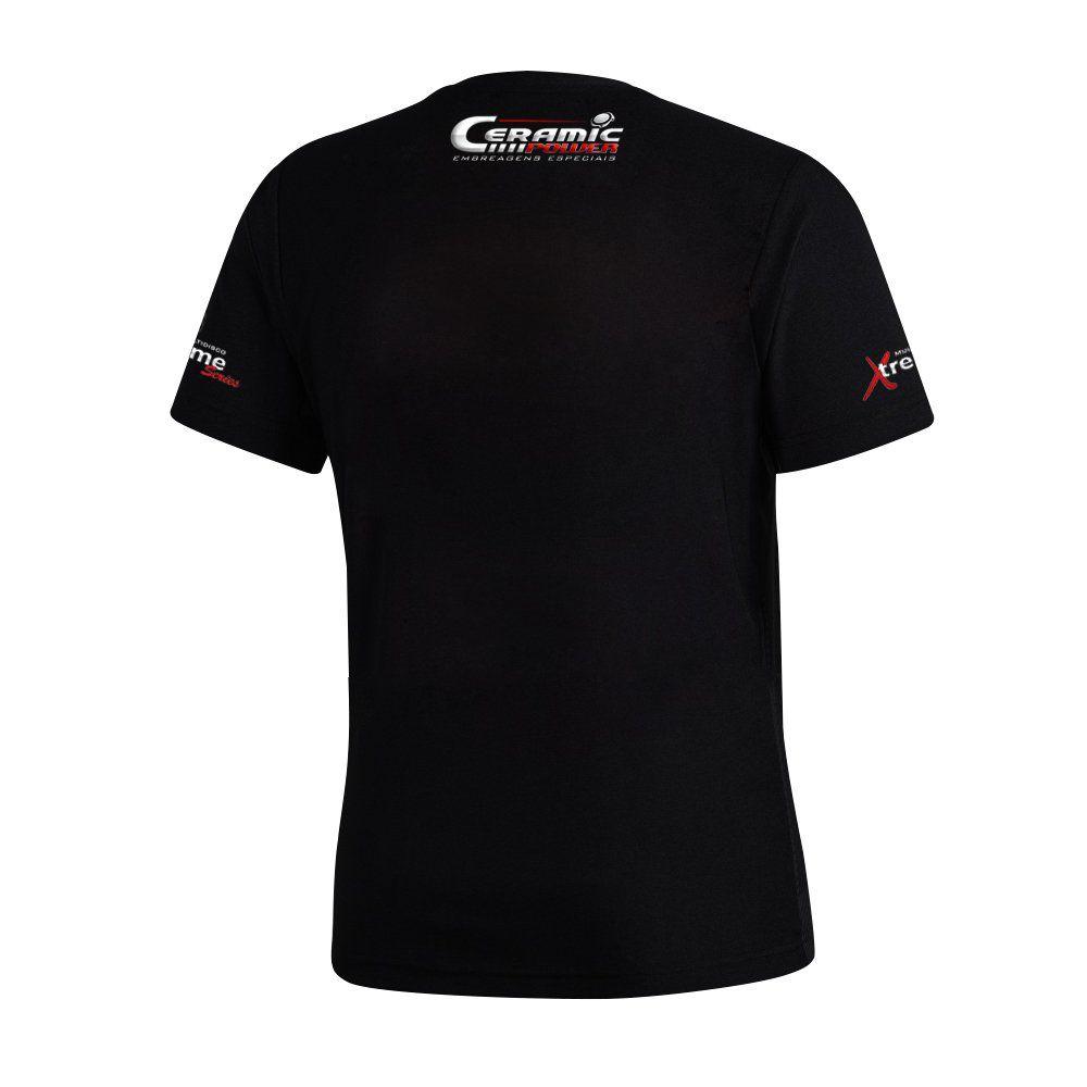 Camiseta Logo Ceramic Power Em Gel - Preta M