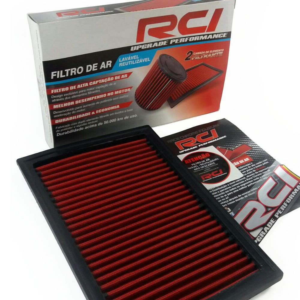 Filtro de Ar Esportivo Punto 1.4 8v Fire 2007 em Diante In Box Race Chrome