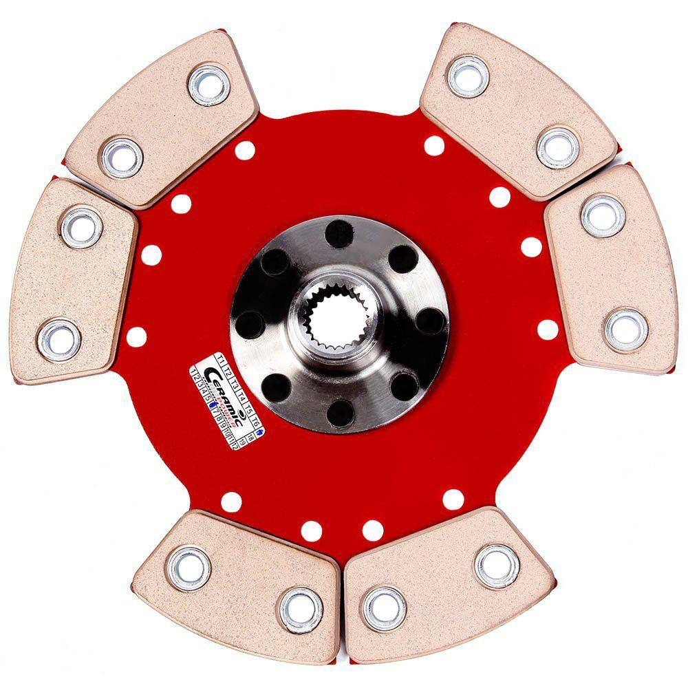 Disco Embreagem Cerâmica 6 pastilhas sem molas Marea 2.0 20v 98 99 2000, Alfa Romeo 145 155 2.0 16v 95 96 97 98 99 Ceramic Power