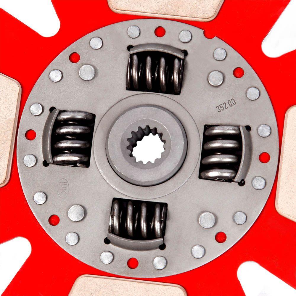 Disco de Cerâmica 4 ou 6 pastilhas com ou sem molas Corsa e Pick up 1.6 8v 16v Tigra 1.6 16v 200mm 14 estrias Ceramic Power
