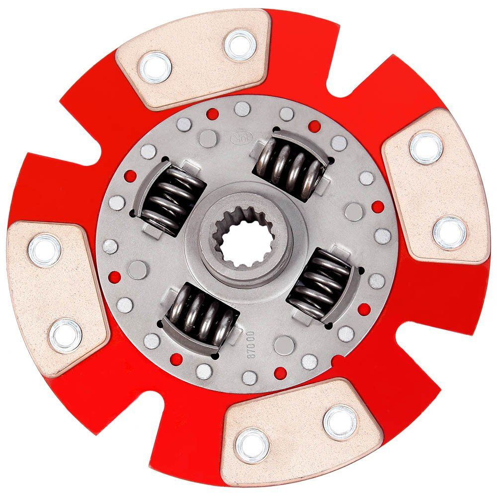 Disco Embreagem Cerâmica 4 pastilhas com molas Chevette 1.0 1.4 1.6 - 73 a 95, Chevy 500 Marajó 1.4 1.6 - 80 a 95 Ceramic Power