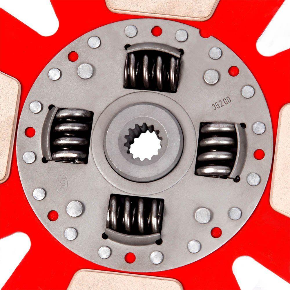 Disco Embreagem Cerâmica 4 pastilhas com molas Corsa 1.6 94 a 2003, Classic 1.6 2001 a 2007, Tigra 1.6 98 99 Ceramic Power