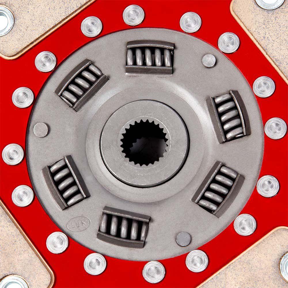 Disco Embreagem Cerâmica 4 pastilhas com molas Fusca Kombi SP2 1500 1600, Brasília Variant 1600, Gol Saveiro BX 1.6 Ceramic Power