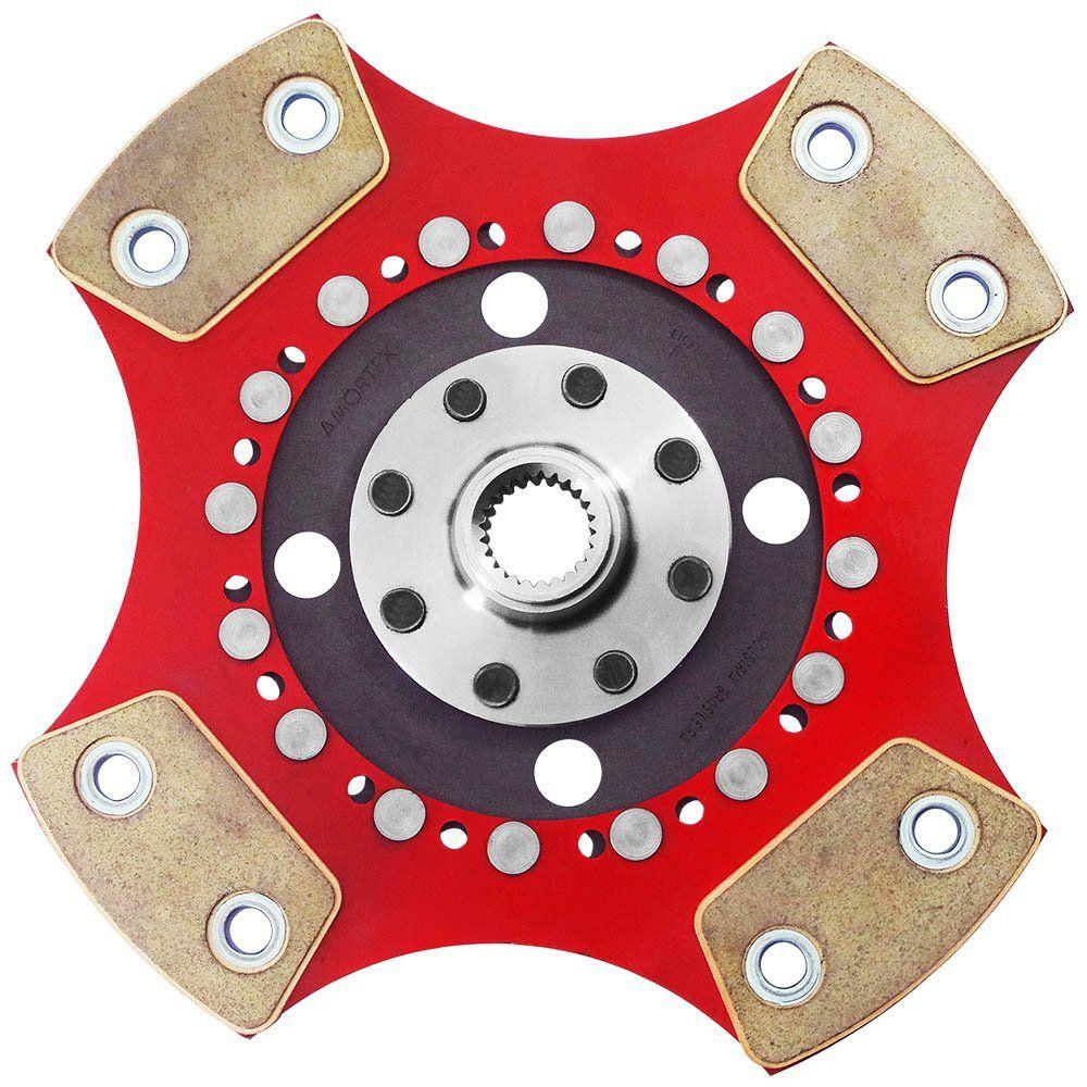 Disco Embreagem Cerâmica 4 pastilhas sem molas Chevette 1.0 1.4 1.6 - 73 a 95, Chevy 500 Marajó 1.4 1.6 - 80 a 95 Ceramic Power