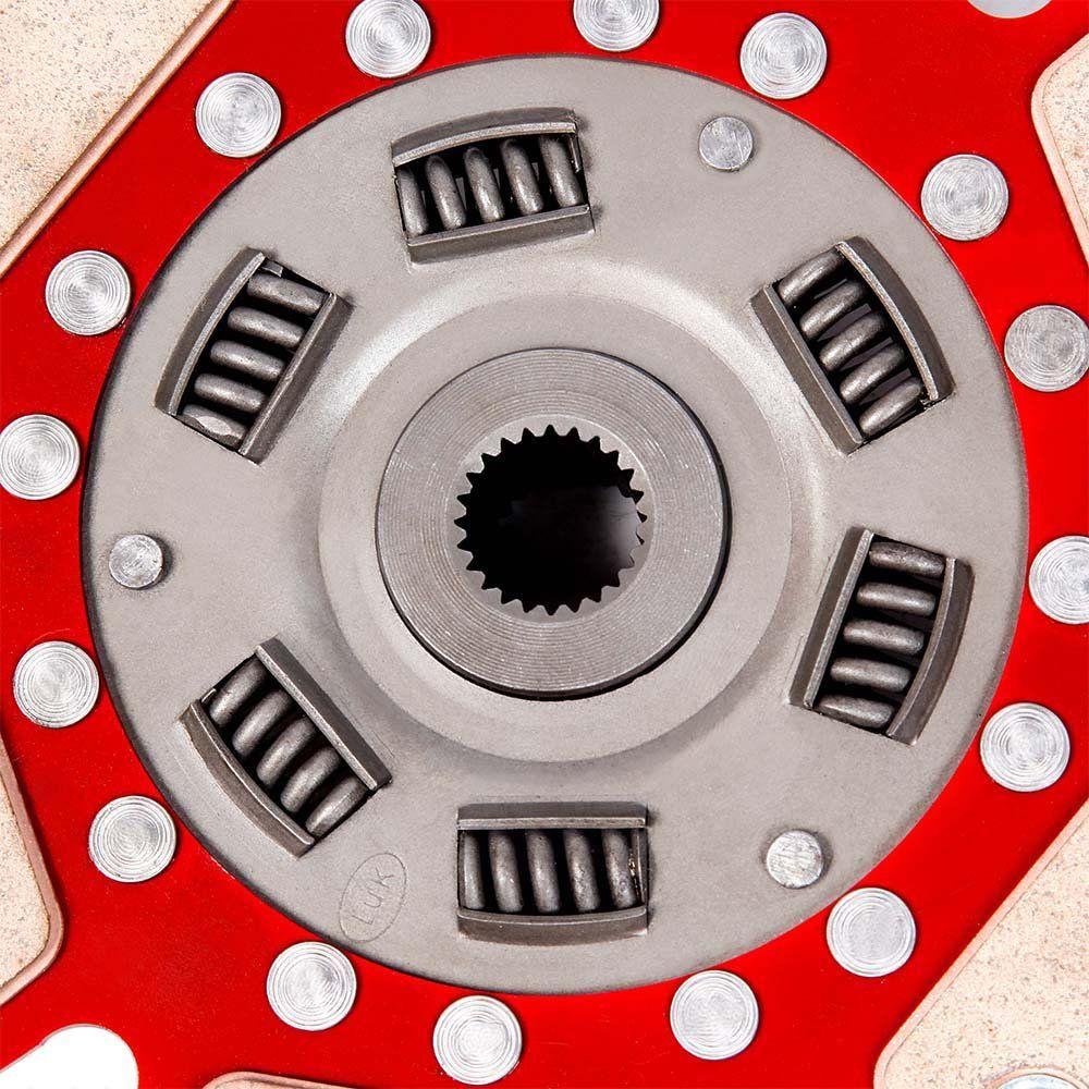 Disco Embreagem Cerâmica 6 pastilhas com molas Fusca Kombi SP2 1500 1600, Brasília Variant 1600, Gol Saveiro BX 1.6 Ceramic Power