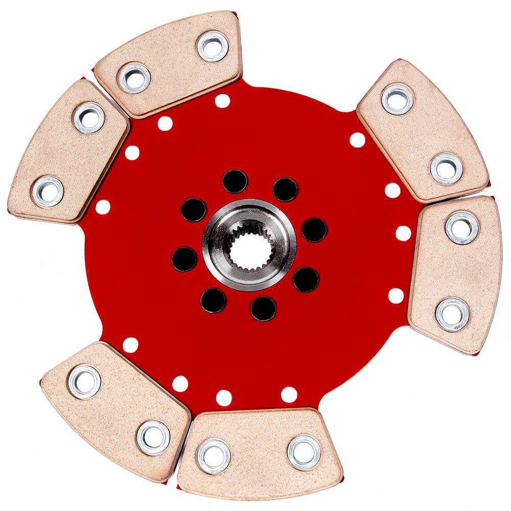 Disco Embreagem Cerâmica 6 pastilhas sem molas AP 1.8 2.0 Gol G1 G2 G3 G4, Parati, Passat, Santana, Saveiro, Voyage Ceramic Power